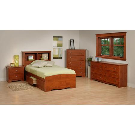 Monterey Bedroom Set Bed Size Twin Color Cherry Set 5