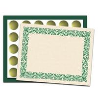 "8.5"" X 11"" Art Deco Certificate Combo Pack-Green"