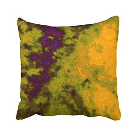 WinHome Decorative Pillowcases Purple Green Pumpkin Colorful Vibrant Throw Pillow Covers Cases Cushion Cover Case Sofa 18x18 Inches Two Side](Minecraft Pumpkin Light)