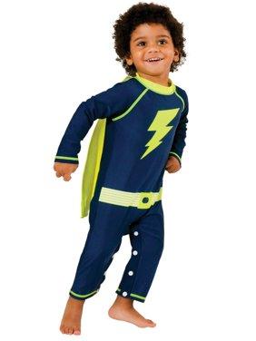 Shade Critters Little Boys MY HERO- UPF50 ONESIE Swimwear 2T