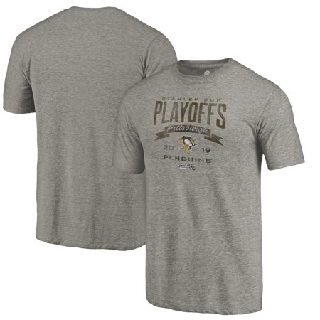 Pittsburgh Penguins Fanatics Branded 2019 Stanley Cup Playoffs Bound Buzzer Beater Tri-Blend T-Shirt - Gray