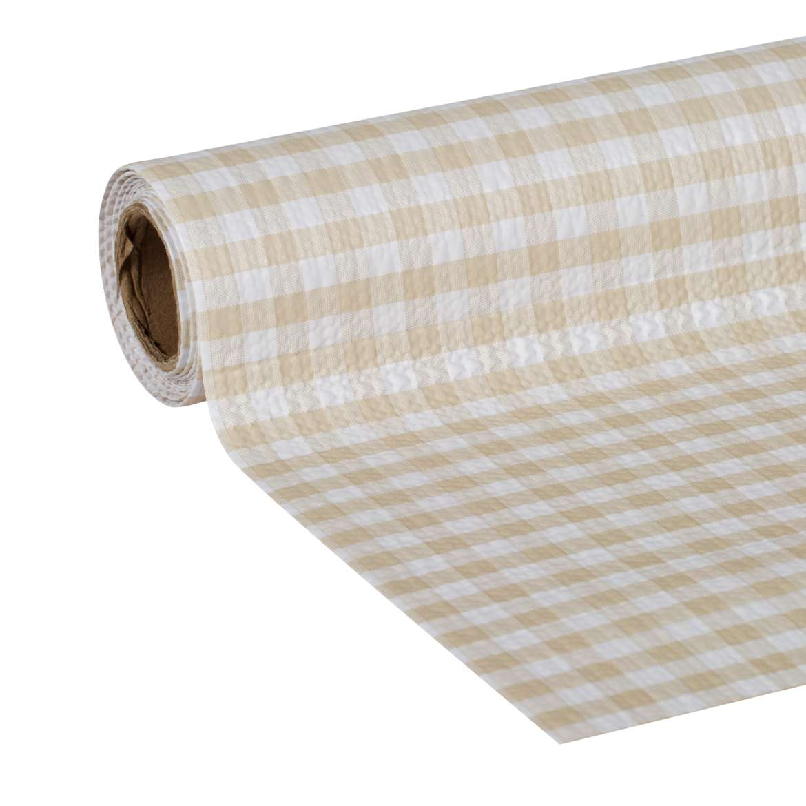 Duck Brand Smooth Top Easy Liner Brand Shelf Liner - Sandstone Gingham, 20 in. x 6 ft.