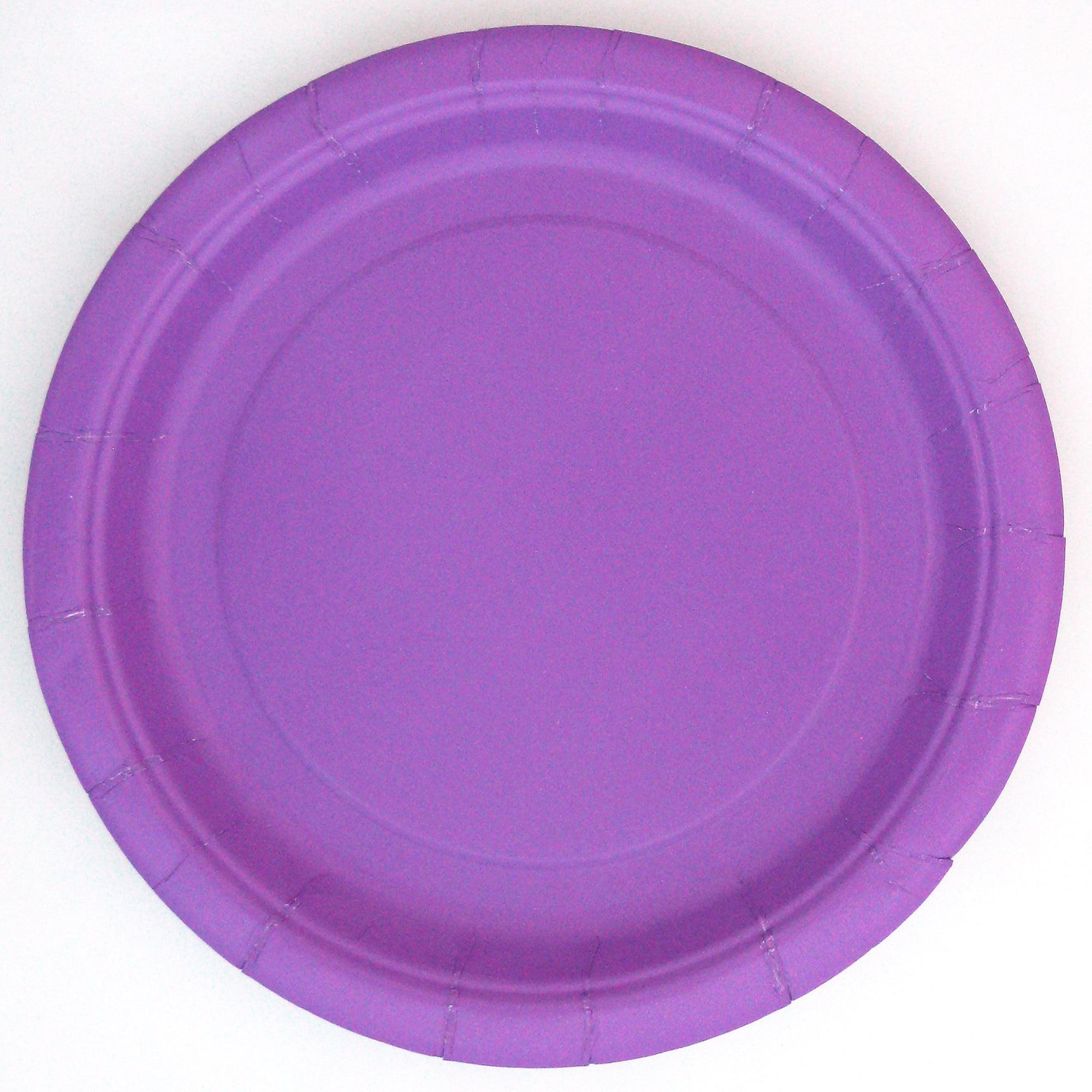 "7"" Purple Dessert Plates, 24 Count"