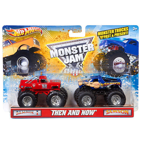 Hot Wheels Monster Jam Then and Now Trucks, 2-Pack