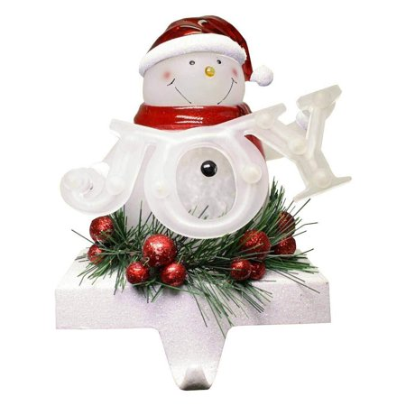 Joyous Snowman (7 LED Snowman Joy Stocking Holder, Battery-Operated #30434)
