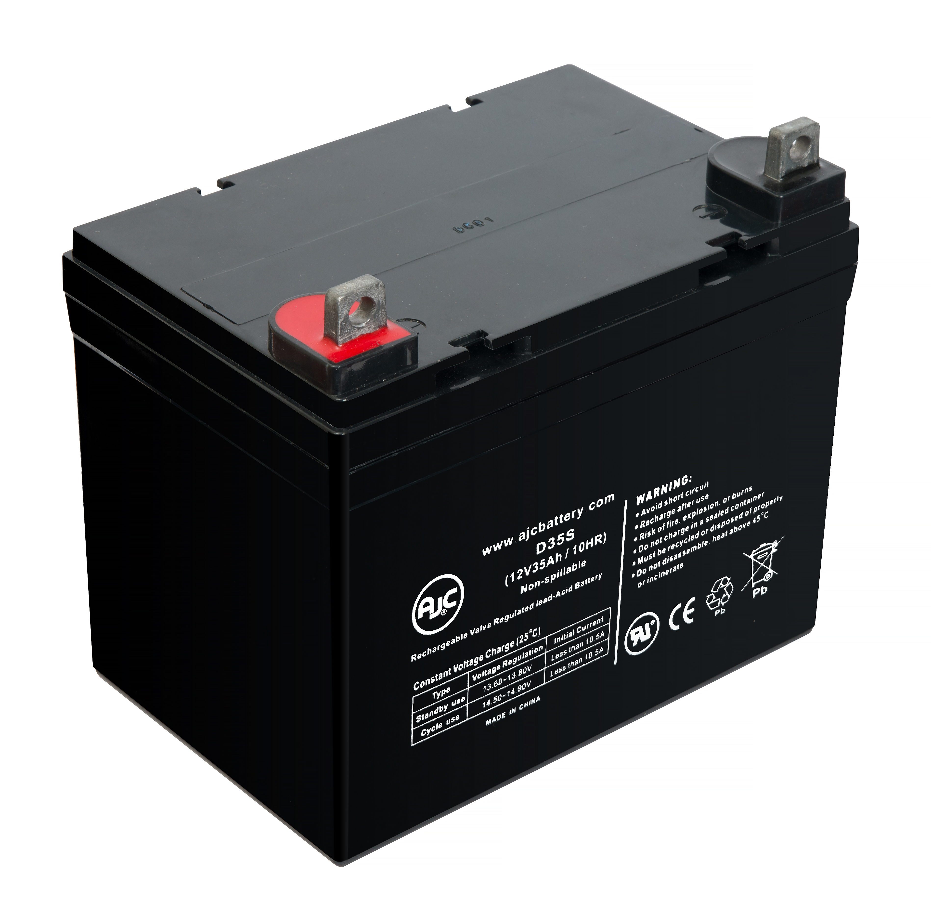 Honda H4514 12V 35Ah Lawn and Garden Battery - This is an AJC Brand Replacement