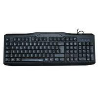iMicro KB-US9851S USB Wired 108-Key Spanish Keyboard, Black