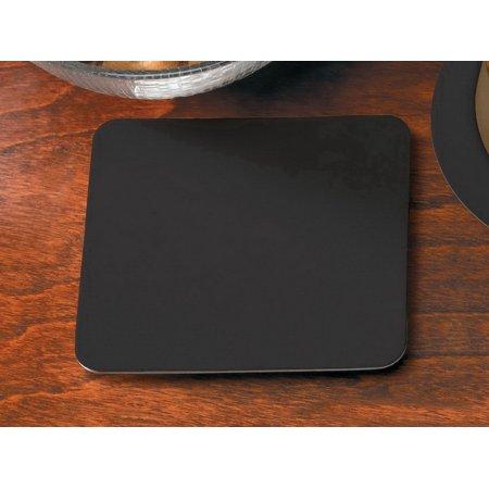Hoffmaster Coasters (Hoffmaster 876108 Coaster Pulpboard Light Weight Black 4 In)