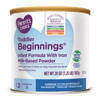 Parent's Choice Toddler Beginnings Non-GMO Infant Formula Powder, 20 oz