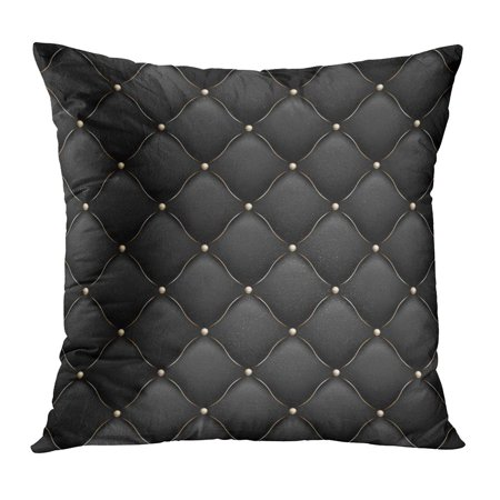 STOAG Black Upholstery Gloss Quilted Pattern True Luxury with Gold Thread and Also Includes 10 VIP Abstract Throw Pillowcase Cushion Case Cover 16x16 inch ()