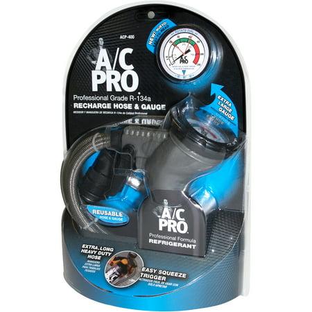 auto ac recharge ac pro r 134a recharge hose and gauge walmartcom