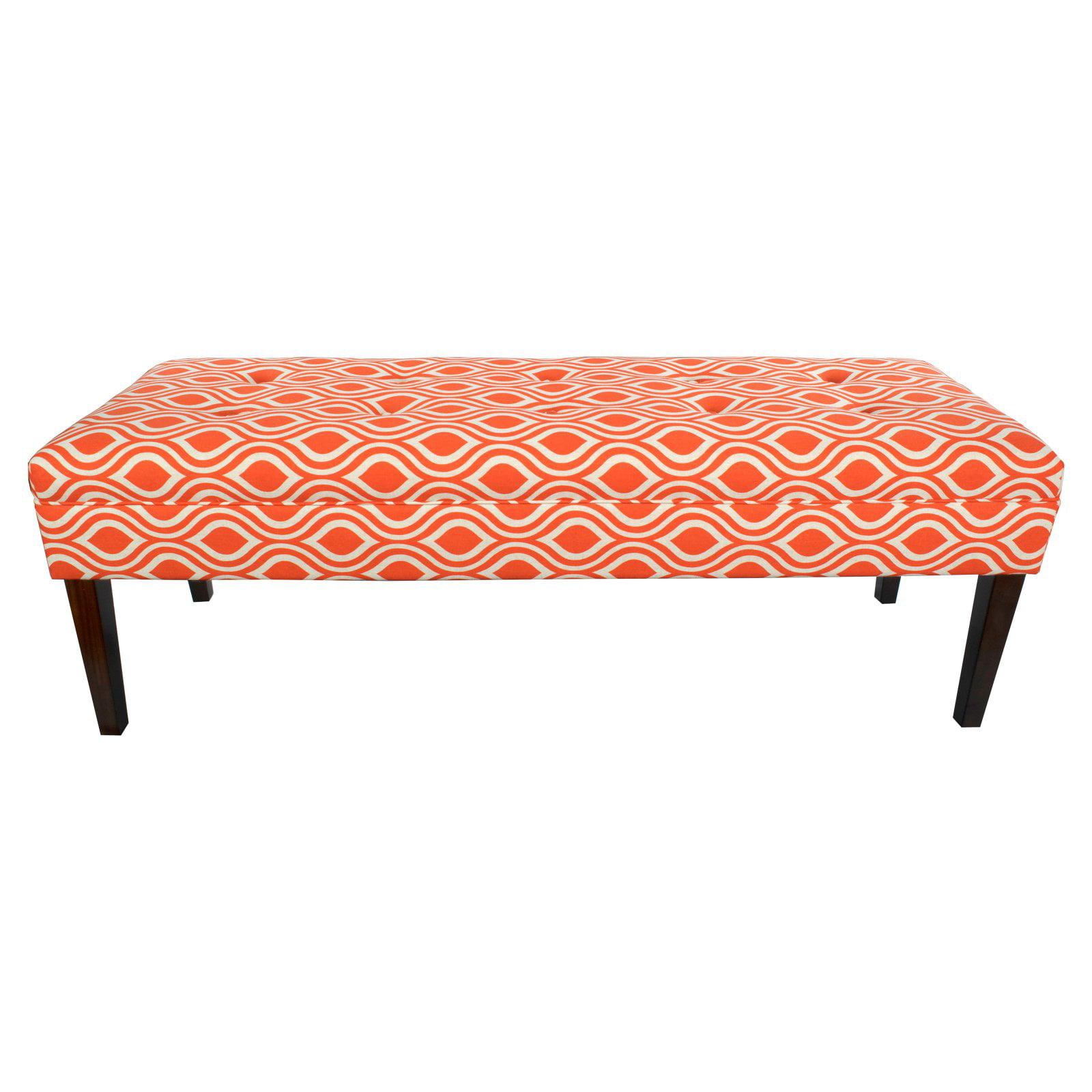 MJL Furniture Kaya Nicole 10-button Tufted Upholstered Long Bench Indigo-Laken