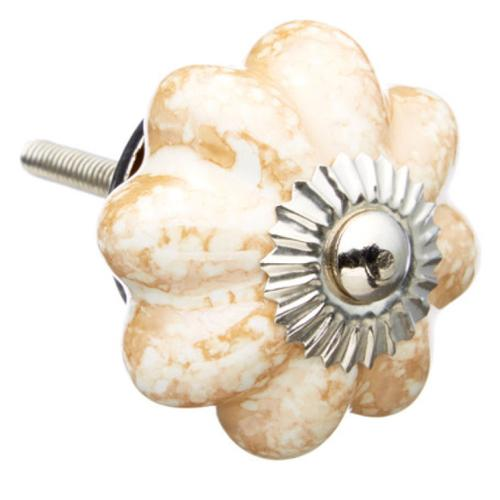 Shabby Restore Brown Marble Melon Ceramic Drawer/ Door/ Cabinet Knob (Pack of 6)