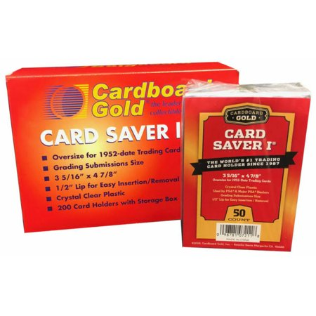 Card Saver 1 - Semi Rigid Card Holder for PSA/BGS Graded Card Submissions - 50ct Pack