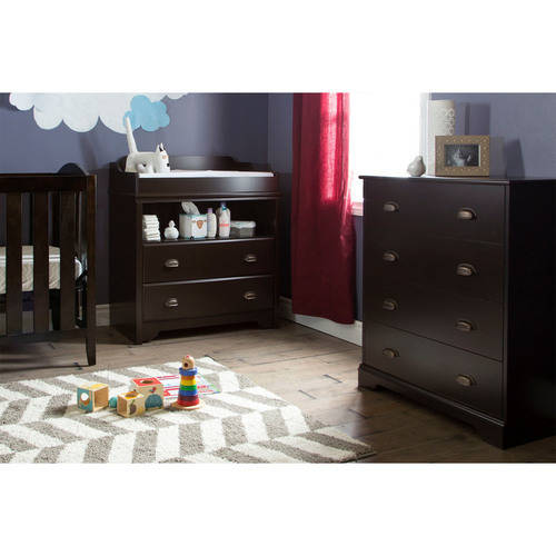 South Shore Fundy Tide Changing Table and 4-Drawer Chest, Multiple Finishes