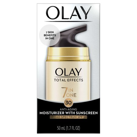 Olay Total Effects 7 In 1 Anti Aging Daily Face Moisturizer With Spf 30  1 7 Fl Oz