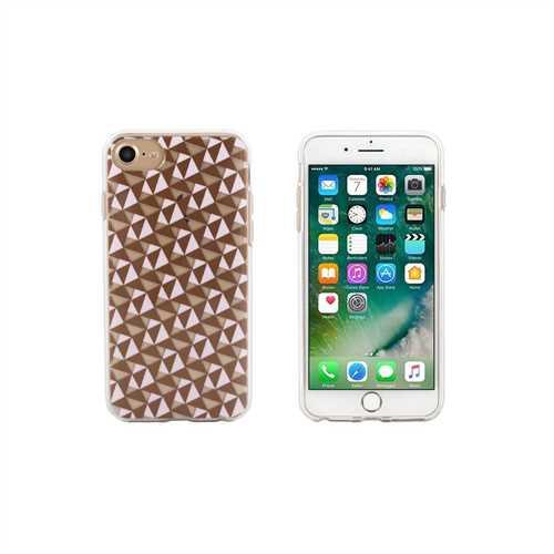 End Scene iPhone 8/7/6s/6 Case - Pink Copper Geo