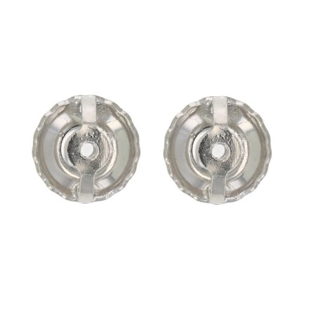 14K White Gold Screw Backs Replacement For Stud Earrings (1
