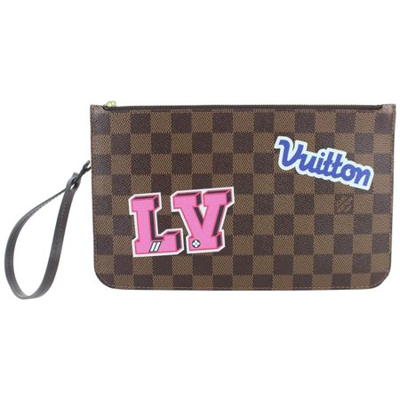 5c199a262370 Louis Vuitton - Neverfull Pochette Patches Damier Ebene Stories ...
