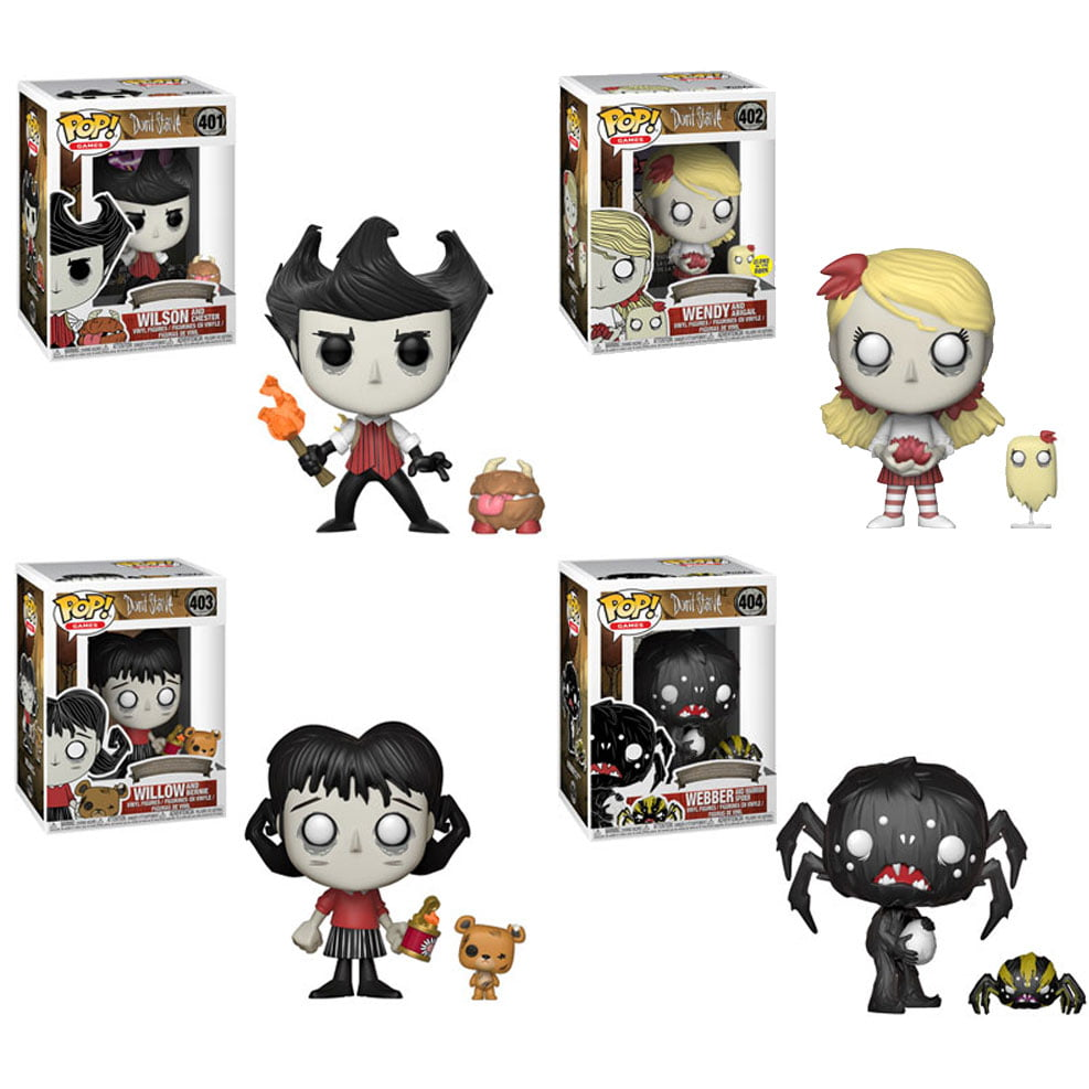 Funko POP! Games Don't Starve Vinyl Figures SET OF 4 (Webby, Wilson, Wendy +1)(Incl. Codes) by Funko