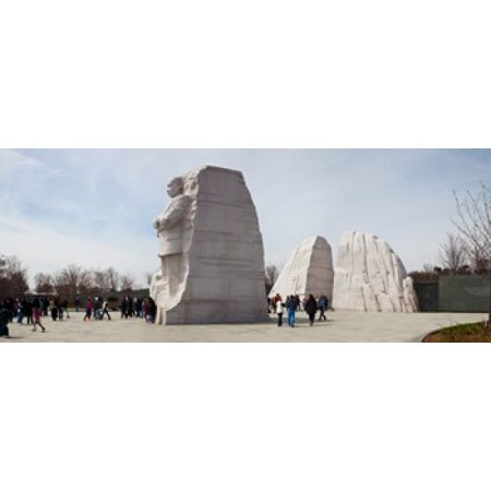 People at Martin Luther King Jr Memorial West Potomac Park The Mall Washington DC USA Stretched Canvas - Panoramic Images (30 x (Key West Mall)