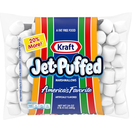 (2 pack) Jet-Puffed Marshmallows, 24 oz Bag - Marshmallow Snowman