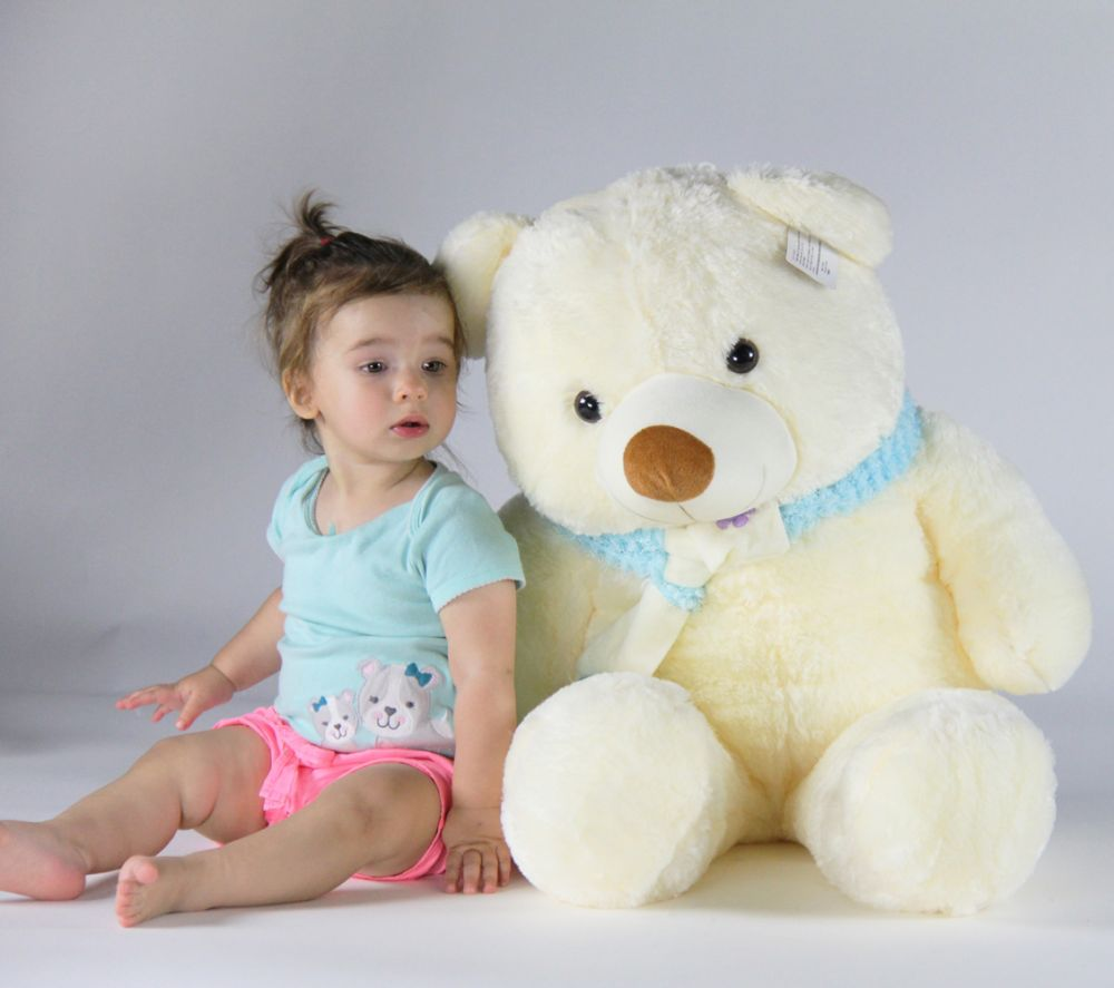 Joyfay Teddy Bear in White- 3ft (39 inches) White Plush Teddy Bear, Great Gift for Christmas, Valentines Day,... by