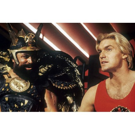Sam J. Jones and Brian Blessed in Flash Gordon 24x36 Poster