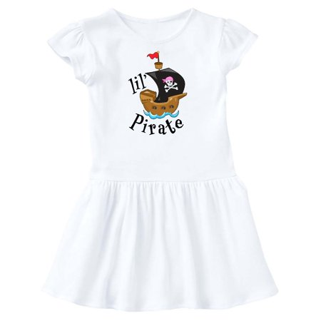 Lil' Pirate pirate ship, pink bandana Toddler Dress