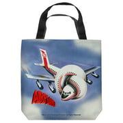 Airplane Poster Tote Bag White 9X9