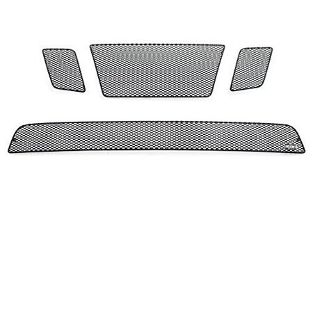 Nissan Frontier Grille Insert - GrillCraft N1529-27B MX Series Black Upper 3pc & Lower 1pc Mesh Grill Grille Insert for Nissan Frontier