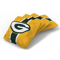 Green Bay Packers 4-Pack Striped Alternate Cornhole Bean Bags Set - No Size