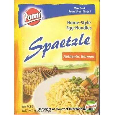 Panni Spaetzle Home-Style Egg Noodles, 9 Ounce Boxes