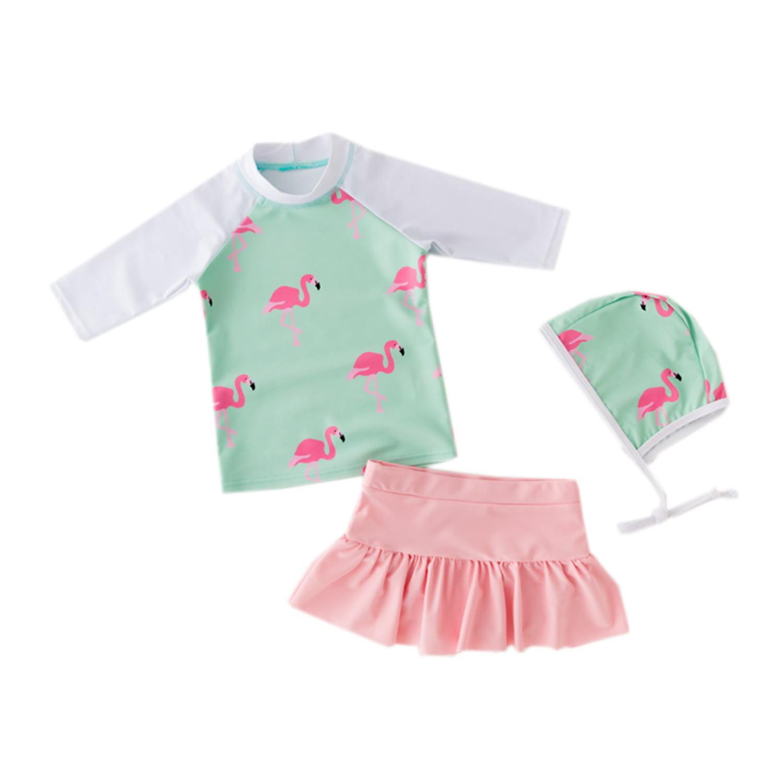 Wippette Baby-Girls Flamingo 1 Pc Swim Rash Guard