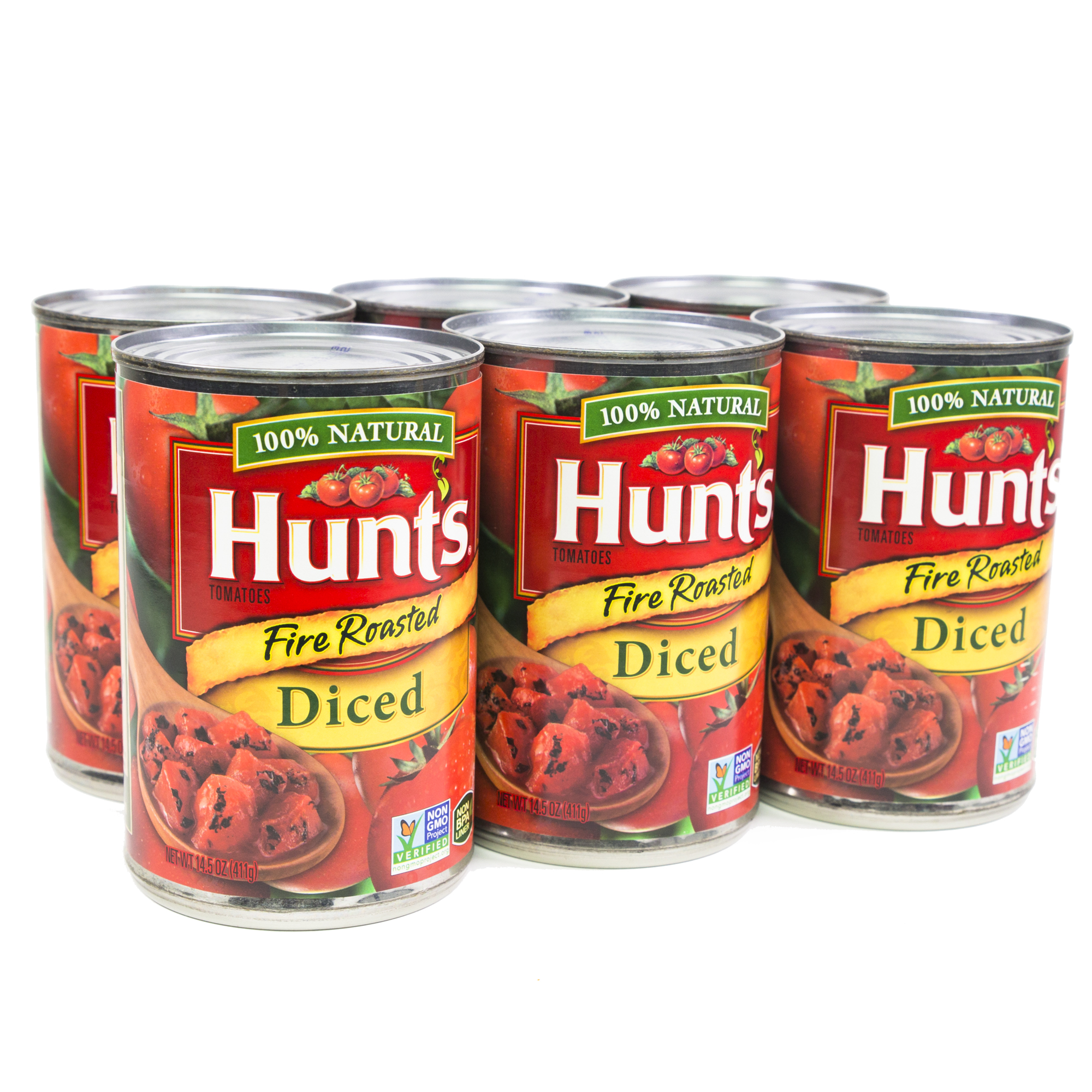 Hunt's Fire Roasted Diced Tomatoes, 14.5 Oz., 6-count