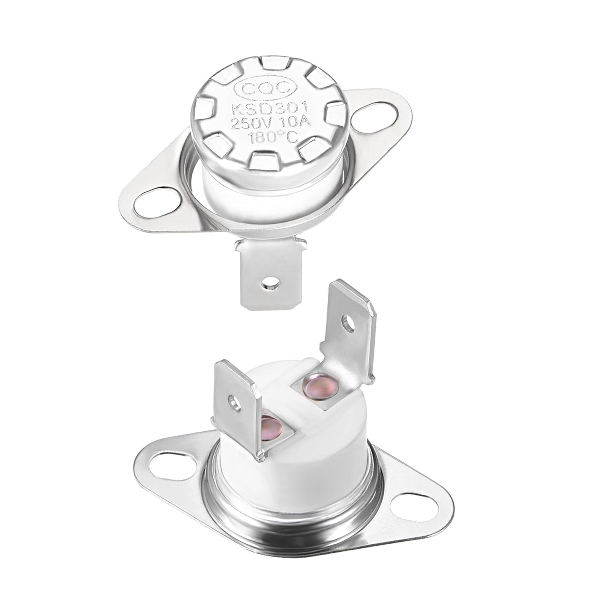Temperature Control Switch , Thermostat , KSD301 180°C , 10A , Normally Closed N.C 2pcs - image 4 de 4