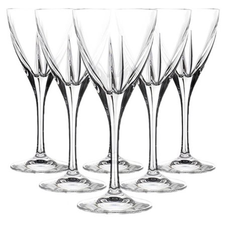 Lorren Home Trends Fusion 7 oz. Crystal All Purpose Wine Glass (Set of (722 Glasses)