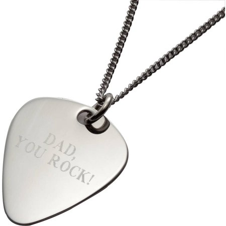 Personalized Guitar Pick Necklace on 24