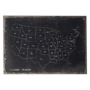 Sterling Chalk Outline Map of USA Wall Art