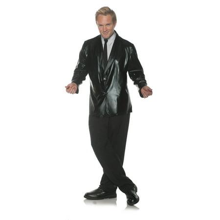 Black Doo Wop Mens Adult 50S Singer Costume Accessory Jacket
