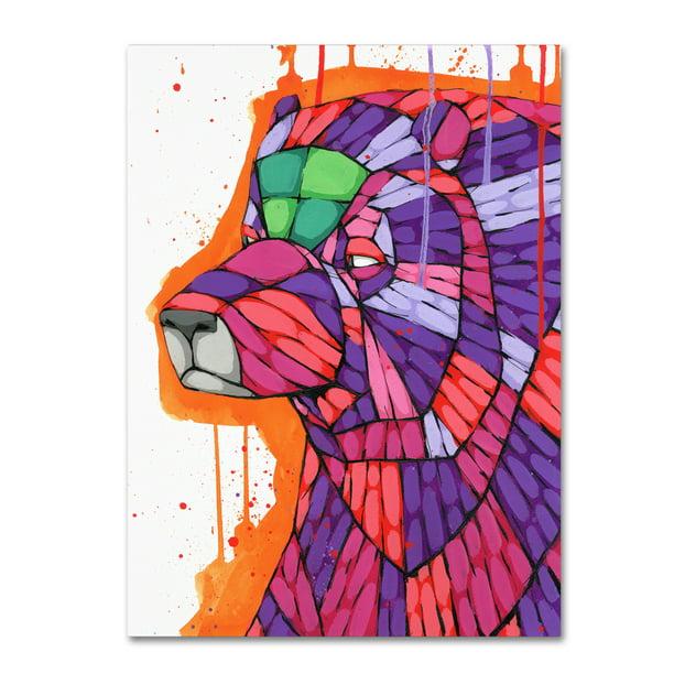 Trademark Fine Art 'Grizzly' Canvas Art by Ric Stultz ...