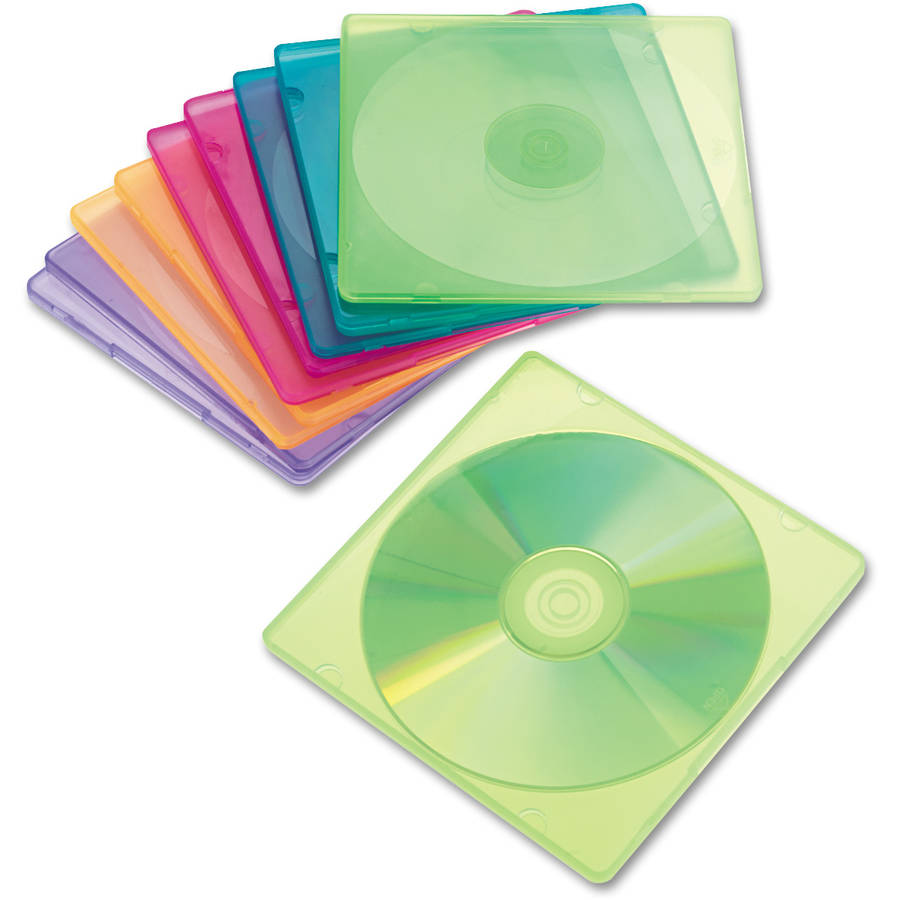 Innovera Slim CD Cases, Clear, 10 Pack