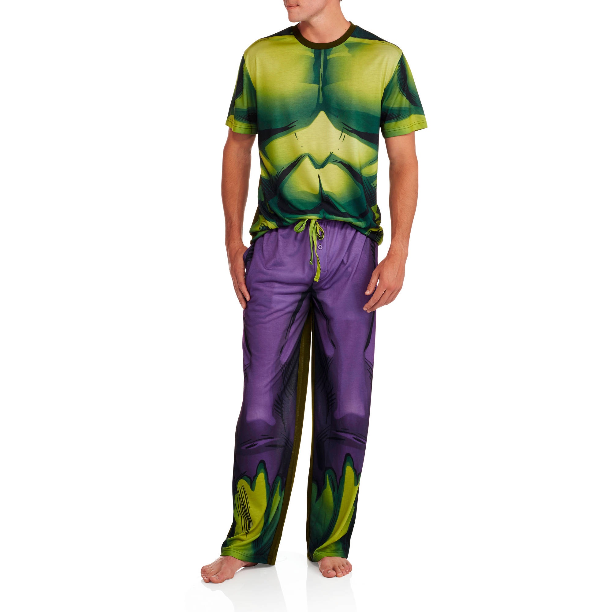 Marvel Men's Hulk Costume Sleep Set