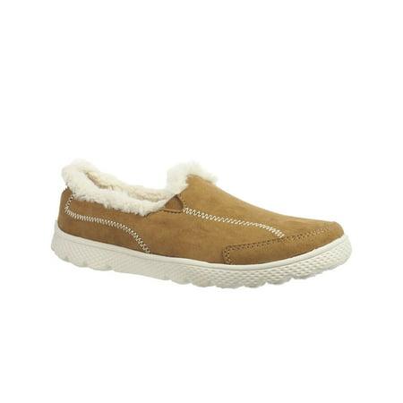 Navy Block - Danskin Now Women's Faux Fur Athletic Slip-On Shoe