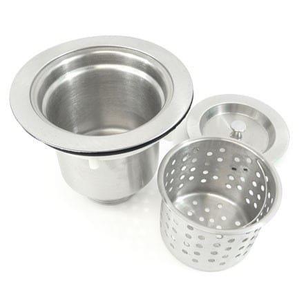 26-inch Stainless Steel 16 Gauge Single Bowl Undermount Zero Radius Kitchen Bar Island Sink With Basket Strainer