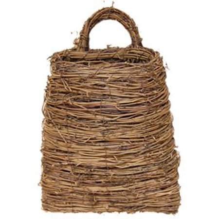 Twig & Vine Pocket Basket Flat Back Country Primitive Wall Décor, Fast shipping,Brand SigmasTek ()