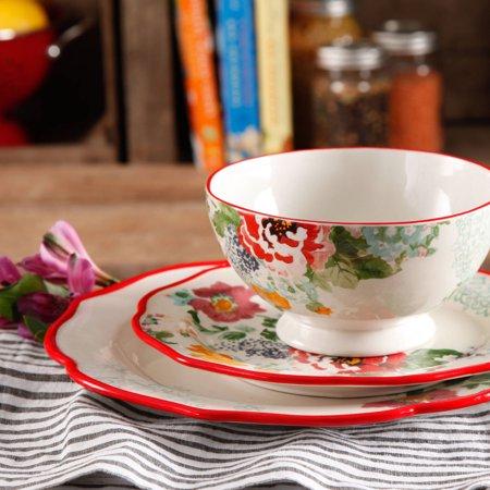 The Pioneer Woman Country Garden 12-Piece Dinnerware Set