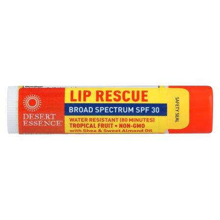 - Desert Essence Lip Balm - Tropical Fruit - Spf30 - Case Of 24 - .15 Oz