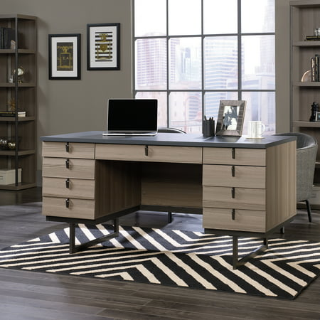 Sauder International Lux Executive Desk, Diamond Ash Finish (Ash Executive Desk)
