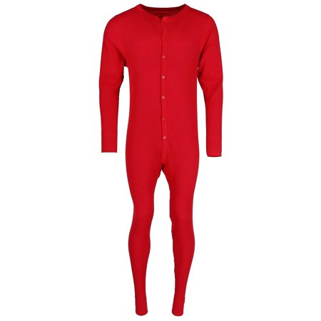 Hanes Mens Solid Waffle Knit Thermal Union Suit. 125443 - image 3 of 3